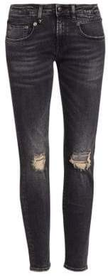 R 13 Aiden Distressed Skinny Jeans