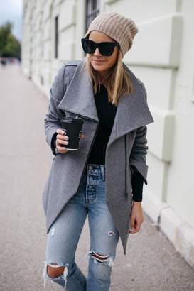 French Connection Cut Away Wool Coat