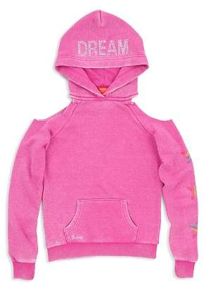 Butter Shoes Girls' Unicorn Dream Cold-Shoulder Hoodie - Big Kid