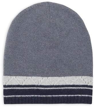 Portolano Men's Colorblock Cashmere Hat