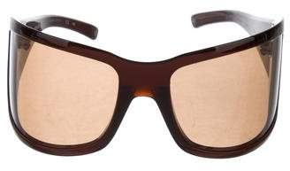 Bottega Veneta Tinted Shield Sunglasses