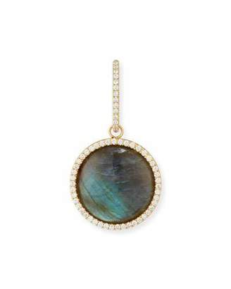 Dominique Cohen Cabochon Labradorite Enhancer with Diamonds