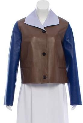 Marni Colorblock Leather Jacket w/ Tags