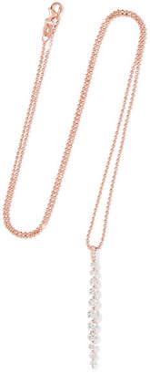 Anita Ko Twiggy 18-karat Rose Gold Diamond Necklace