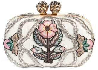Alexander McQueen Queen & King Embroidered Box Clutch