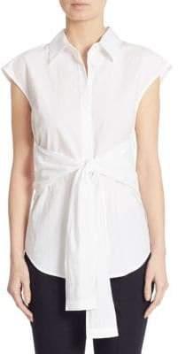 Alexander Wang Tie-Front Poplin Shirt