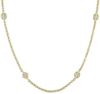 Rina Limor Fine Jewelry Women's 18K Yellow Gold & White Sapphire Long Station Necklace