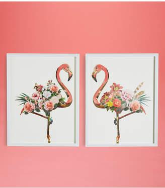 Twos Company Two's Company Flamingo Wall Art, Set of 2