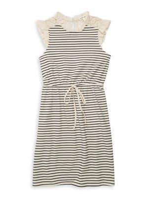 Monteau Girl's Fit-&-Flare Striped Dress
