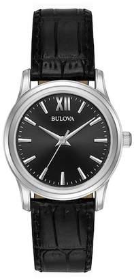 Bulova Women's Leather Strap Casual Watch, 30mm