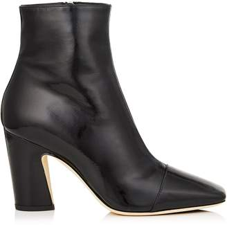 Jimmy Choo MIRREN 85 Black Soft Patent Ankle Boots