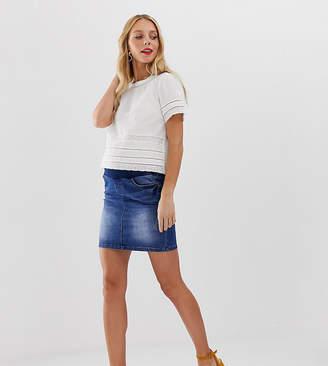 Mama Licious Mama.Licious Mamalicious maternity under the bump denim mini skirt