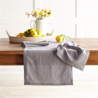 Williams-Sonoma Williams Sonoma Linen Double Hemstitch Table Runner