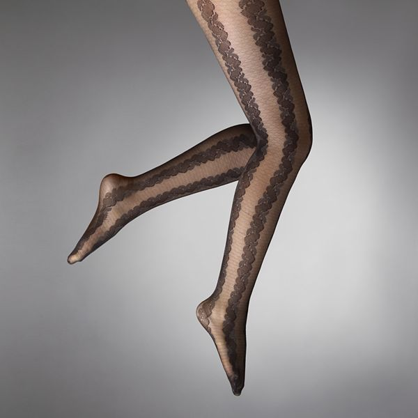 Vera Wang Simply vera textured leaves control-top tights