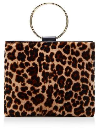 Bloomingdale's Thacker Le Pouch Medium Leopard-Print Shearling & Leather Crossbody