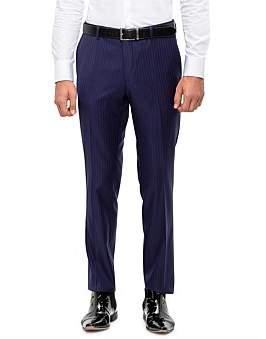 Sand Fl Fr Wool Pinstripe Suit Trouser S194