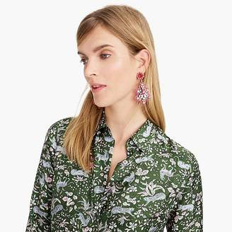 J.Crew Crystal and acetate statement earrings