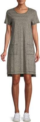 Eileen Fisher Heathered High-Low Shift Dress