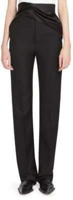 Haider Ackermann Drape Detail Wool Trousers
