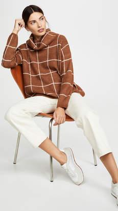 Line & Dot Check Sweater