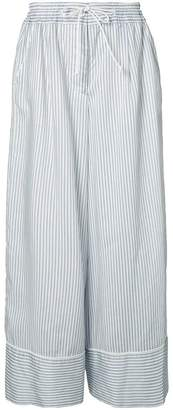 Sacai wide-fit pinstripe trousers