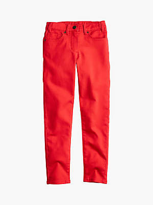 J.Crew crewcuts by Girls' Runaround Denim Jeans, Bright Cerise