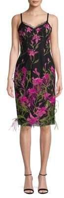 Marchesa Floral Sheath Dress