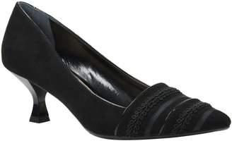 J. Renee Mid-Heel Pointy Toe Pumps - Septima