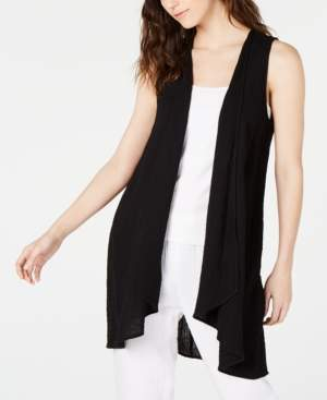Eileen Fisher Organic Cotton Open-Front Vest