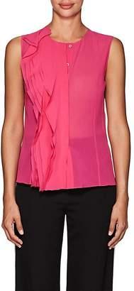 Lanvin Women's Ruffled Stretch-Silk Blouse