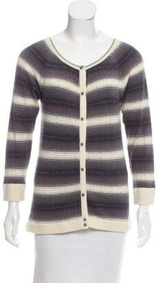 Marc by Marc Jacobs Striped Silk Cardigan