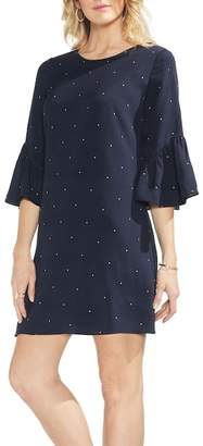 Vince Camuto Soho Pin Dot Ruffle Sleeve Dress (Regular & Petite)
