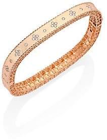 Roberto Coin Women's Princess Diamond & 18K Rose Gold Bangle Bracelet