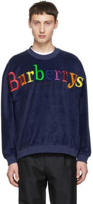 Burberry Blue Towelling Sweatshirt