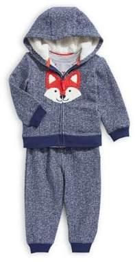 Little Me Baby Boy's Three-Piece Faux Fur Sweater, Tee Pants Set