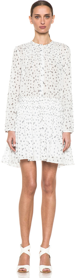 Band Of Outsiders Little Iris Pintuck Dress in Snow White