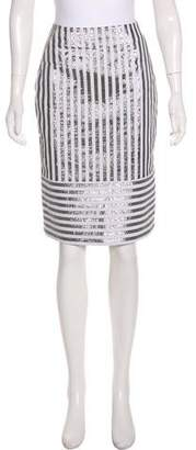 Richard Nicoll Metallic Pencil Skirt