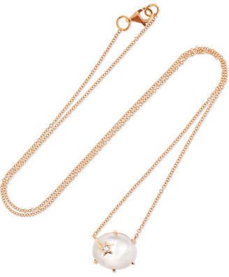 Andrea Fohrman Mini Galaxy 18-karat Rose Gold Multi-stone Necklace