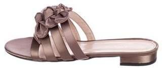 Barneys New York Barney's New York Bow-Accented Satin Sandals