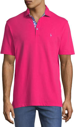Tailorbyrd Contrast-Placket Short-Sleeve Polo