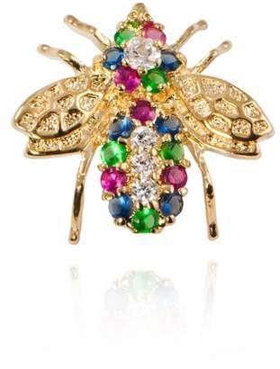 Apples & Figs APPLES & FIGS Rainbow Gold Bee Brooch