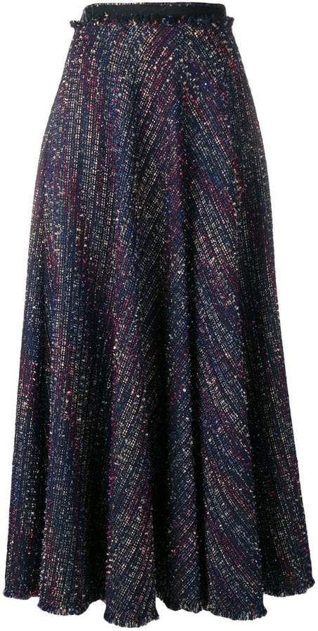 Talbot Runhof sparkle tweed skirt