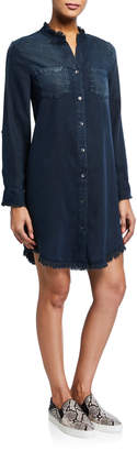 Velvet Heart Amelia Roll Tab-Sleeve Button Dress