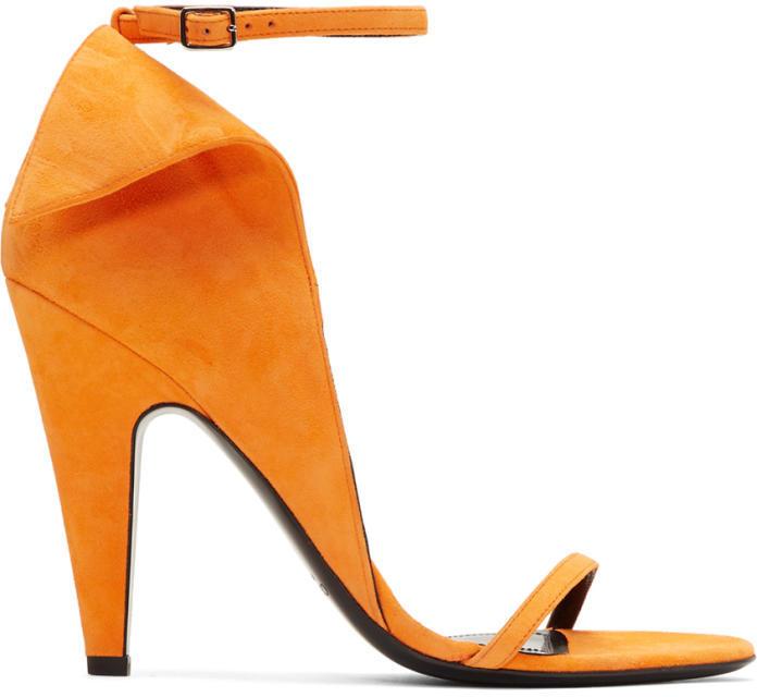 Calvin Klein 205W39NYC Orange Suede Carmin Sandals