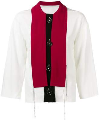 Marni colour block blouse