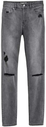 H&M Skinny Regular Jeans - Gray