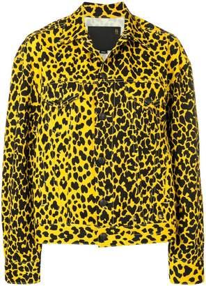 R 13 loose fit denim jacket