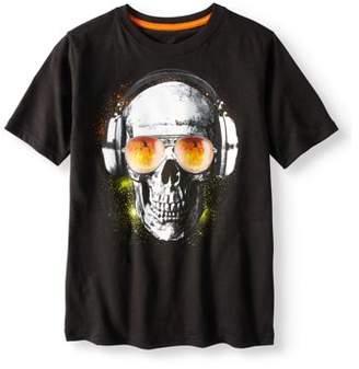 at walmartcom halloween boys halloween short sleeve glow in the dark graphic tee shirt