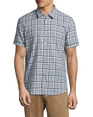 John Varvatos Men's Short Sleeve Plaid Slim Fit Shirt