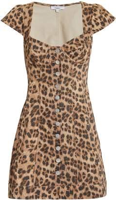 Miaou Gigi Leopard Mini Dress
